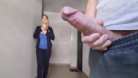 A man flashes a dick to an unfamiliar beautiful girl